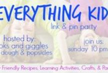 Everything Kids Link & Pin Party / The best of the Everything Kids party! You can link up at the Everything Kids link party every Sunday night (starting at 10 pm EST) to Wednesday (ending at 11:59 pm EST) on  www.playdoughandpopsicles.com or www.booksandgiggles.com. The linkup will direct you to the correct re-pin board for the week. Choose at least 3 pins you love and re-pin to your own boards. Commenting on your favorite is encouraged.
