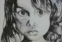 Lápiz, tinta, carbón, pasteles / Dibujo