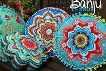 Crochet blankets and pillows