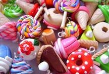 Clay and charms / Pins of polymer clay charms and other cute stuff