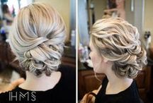 wedding hair / My head.
