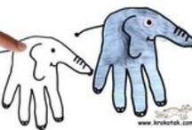 Творчество ЛАДОШКАМИ и ПЯТОЧКАМИ/ Creativity PALMS and HEEIS / Творчество – это инструмент познания мира. Творчество – это не столько результат, сколько удовольствие от процесса. Самый первый инструмент, которым начинают творить дети,  - это ладошки и пяточки. :) А подключая фантазию, помощь взрослого, ребёнок уже не просто творит, а играет в мире творчества. / The first tool that children start to do - it palms and heels . :) And connecting fantasy , adult care , the child is no longer just works , and plays in the world of creativity.
