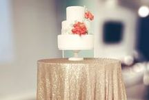 wedding cakes & other desserts / Tiny polka dots, ruffles, gold glitter, flowers, berries, and naked cakes.