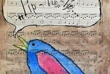 Творчество из КНИЖНЫХ и НОТНЫХ листов/ Creation of book and music sheet