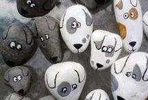 Роспись на камнях с детьми и для детей/ The painting on the rocks with children and for children