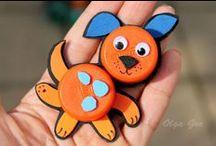 Детские поделки из ПРОБОК ОТ ПЛАСТИКОВЫХ БУТЫЛОК/ Kids crafts from PLUGS FROM PLASTIC BOTTLES