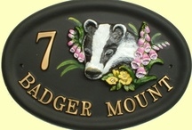 Animal design House Signs / Hand painted house signs with various animal designs, produced in weatherproof polymer resin.