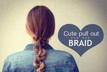 Hair_styles . . . .( BRAID & BUN )
