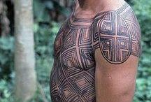 Pintura Corporal Indígena / #tattoo