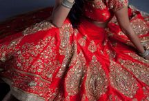 Bridal /Sangeet/ Roka wear / mix and match of blouses,lehenga and saree colors,patterns for the gorgeous bride.