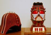 Sculptures I have created / All of my sculptures are created using recycled materials.
