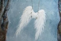 """On Angel's Wings"" / ""I believe I have a Guardian Angel"" / by Cherie Byrnes"