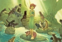 The Cats of Tanglewood Forest / The Cats of Tanglewood Forest by Charles de Lint, illustrated by Charles Vess -   Just a few of the vibrant illustrations from this upcoming original folktale by two celebrated masters of modern fantasy.  The magic is all around you, if only you open your eyes....