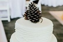 Pine cone winter wed