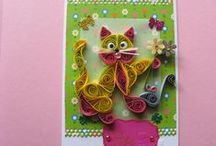 Alena B. - quilling card for kids 2016 / quilling