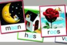 Lezen * Kern 1 * VLL / Woorden: ik - maan - roos - vis - sok - aan - pen - en Werkbladen en dergelijke