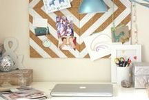 Dorm Room Decor / Making the most of a small space or dorm room is always a challenge. That's why we have you covered with some really great decor ideas that utilize your limited space while looking inviting! Enjoy! / by GradImages
