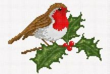 Christmas cross stitch / Hopefully you'll find what you are looking for, I've tried my best to put the charts with the picture and if the chart isn't there it may be just because I never found the key and deem it easy or small enough to work out for ourselves. Enjoy... / by Jeanette Moffat