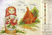 cross stitch russian dolls / by Jeanette Moffat