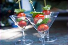 Fun with Martini Glasses / Interesting and creative uses for Martini Glasses at parties.