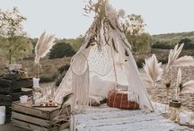 wedding boho settings