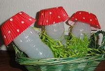 Made from yoghurt bottles