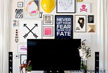 TV Wall❗️ / Gallery wall: Art all around the TV❗️