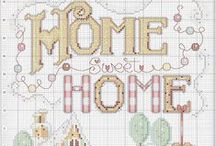 CROSS STITCH -WELCOME HOME