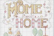 CROSS STITCH -WELCOME HOME