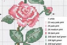 CROSS STITCH FLOWERS AND BORDERS