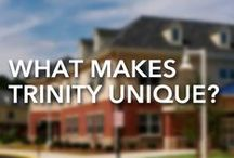 About Trinity / What sets Trinity Christian School apart from other schools? It can be difficult to learn about the heart of a community through online resources. While nothing is a substitute for a tour of Trinity's campus, this board may help you learn the school's culture, history and heart.