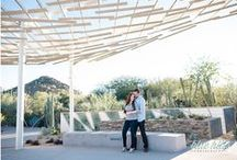 Arizona Engagement Sessions / Engagement Sessions with a fun take on the bride and groom's preparation for their wedding day.