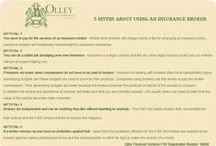OlleyFin - Insurance Resources / Nifty information that might clarify some ideas about insurance and financial advisers. facebook.com/OlleyFin