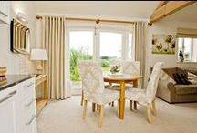 Goldesburgh Lodge / Here is our second cottage, Goldesburgh Lodge. This is also a ground floor cottage for 3 persons featuring English contemporary design and high pitched ceilings and beams.