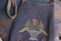 Embroidery, knitting and crochet