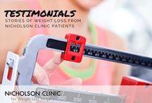 Weight Loss Surgery Testimonials / Testimonials from Nicholson Clinic weight loss surgery patients.