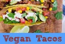 Meatless TexMex / Vegetarian and vegan taco and TexMex recipes. These look delicious!  #tacos #texmex #vegetarian #vegan