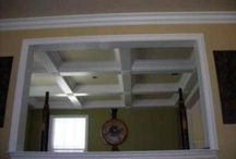"All About Crown Moulding! Different crown pictures you'll love to repin. / All About Crown Moulding! Vaulted crown, colonial crown, 8"" crown molding and more! Different homes - Different styles."