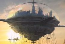 Fantasy Floating Cities - Castles - Houses