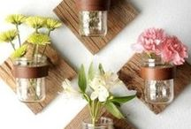 Spring + Summer Home Decor | DIY / 2016 DIY spring + summer home decor ideas. All things spring for your living room mantle, your dining table decorations, your bedroom, your front porch, and everywhere in between. Our favorite is the vintage, country rustic look but we'll throw in some modern ideas for you too! Make your house a spring- and summer-filled home.