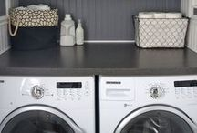 Laundry Room | DIY Home Decor / Laundry room ideas for your dream laundry room design makeover. Our fav: DIY farmhouse style decorations and home decor so you can wash, dry, iron, and repeat. We've even got organization and storage tips too to utilize a small space.