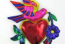 My heART LOGO'S INSPIRATION / My logo created by Lush Inbound Marketing is inpired itself by the Corazones Millagros or Miracle Hearts of Mexican Folk Art. The small colorful hand painted religious folk tin metal charms that are traditionally used as votive offerings or ex-voto in Latin America and Southern United States. My heart millagro logo is a modern interpretation of the traditional ones as a symbol of my love for handmade jewelry for which I seek the protection of God.
