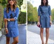 Robes en jean / Robe en tencel façon jean