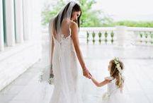 Wedding Flower Girls / Flower girl fashion and ideas from  www.weddedwonderland.com.