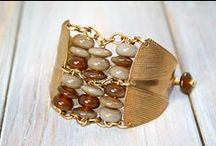 Bracelets, Bangles, and Cuffs / A selection of handmade artisan bracelets in a variety of styles