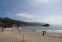 Route de Los Angeles à San Francisco / Photos prises entre Los Angeles et San Francisco en longeant la côte Pacifique en Californie : Malibu Beach, Santa Barbara, Carpinteria, Santa Barbara, Solvang, San luis Obispo