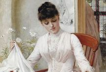 De blanc vêtues