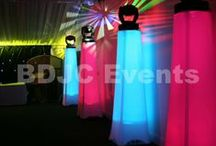 Specialist event and wedding lighting / Our specialist lighting can transform large areas of a venue by projecting colour washes and patterns on walls, ceilings and floors. Know as Moving head lights they can be programmed to project in a static position or movement, the patterns can be set to also rotate. #bdjcevents #eventlighting #partylighting #venuedressing  Great advantages of such lighting is not only can create a stunning visual effect, at the touch of a button they can be used as party / disco lighting.