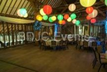 Wedding and Event paper lantern canopy hire / Lit Paper Lantern Canopy hire service. Using different sized round white lanterns FULLY LIT with coloured or clear lamps it creates a magical ambient lighting for any venue from marquees to hotels and halls, adding a wonderful warm atmosphere  #bdjcevents #eventlighting #partylighting #venuedressing #ledtablecentres #paperlanterncanopy