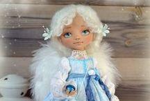 Куклы текстильные / текстиль и грунтованный текстиль